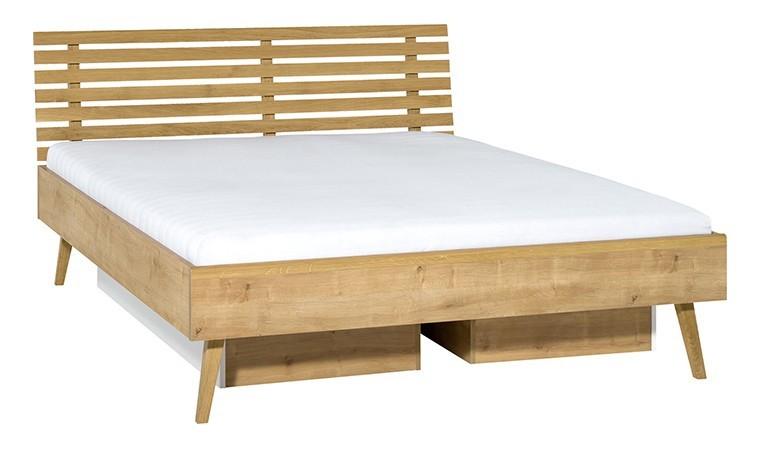 lit design tete de lit et tiroirs rangement nature 2