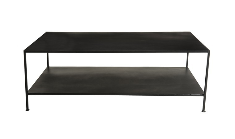 table basse rectangulaire en metal noir berlioz