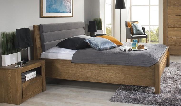 lit 160x200 cm avec tete de lit placage chene loft