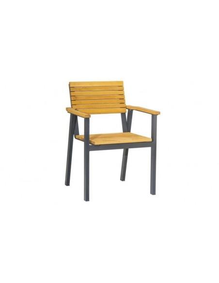 fauteuil de jardin bois massif alu graphite marino