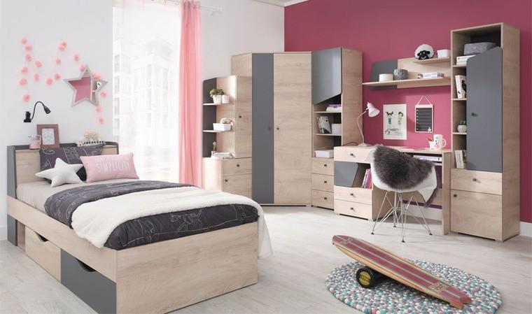 lit enfant design 90 x 200 avec rangements island