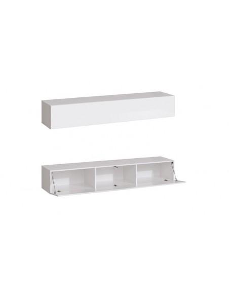meuble tv mural blanc minimaliste palerme i