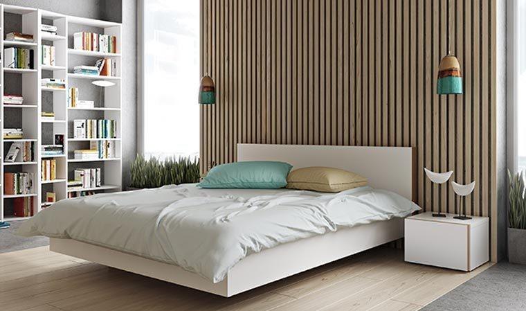 lit design blanc mat 180 x 200 cm float
