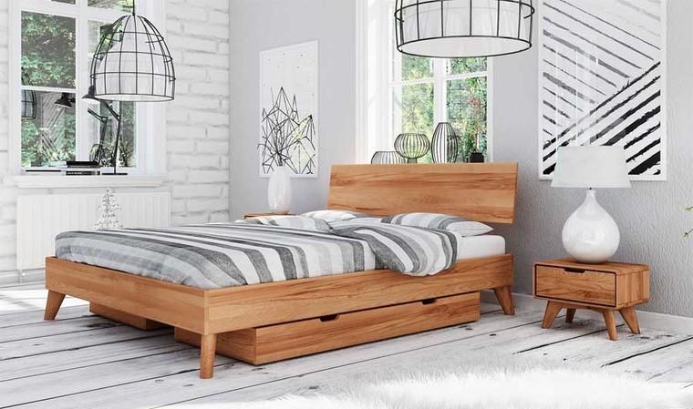 lit avec tiroirs de rangement en bois greg