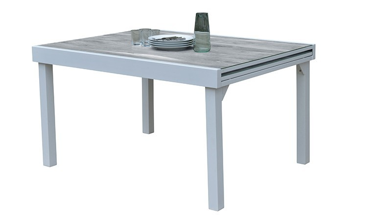 table jardin a rallonge decors bois 6 10 places modulowood
