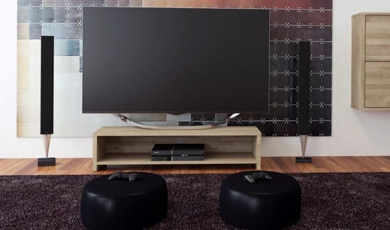 meuble tv en chene clair june