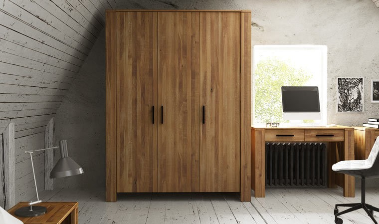 armoire en chene massif 3 portes kuby