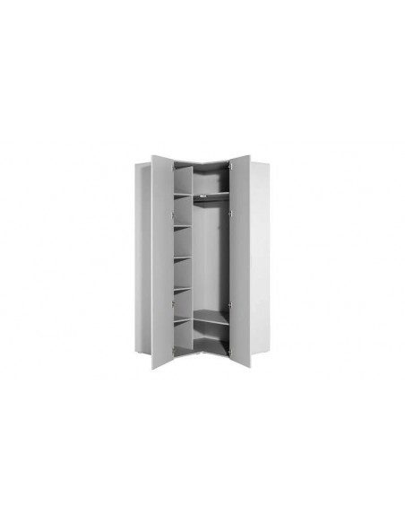 armoire d angle blanche grande capacite 4you