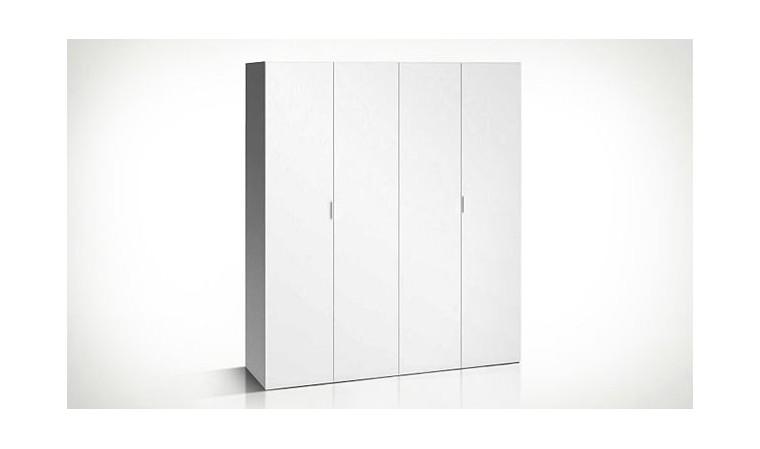 armoire dressing blanc 4 portes 240 cm 4you