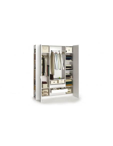 armoire dressing blanc 4 portes 206 cm 4you