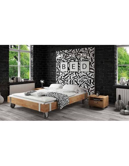 lit sur roulettes design en bois massif moove 2