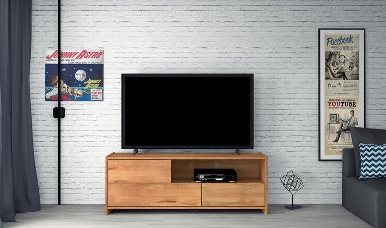 meuble tele en bois massif norvig