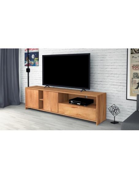 meuble tele en hetre massif norvig