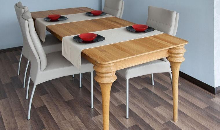table a rallonge design en hetre massif princess