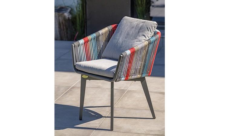 fauteuil de jardin design cordage multicolore alana