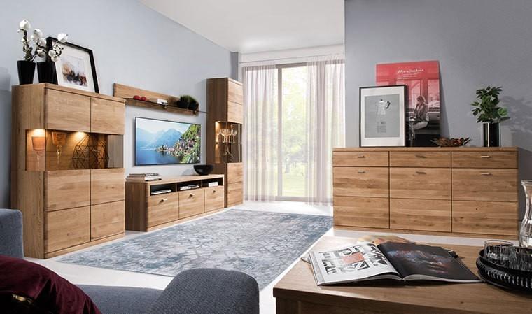 meuble tv moderne en chene naturel 180 cm boston