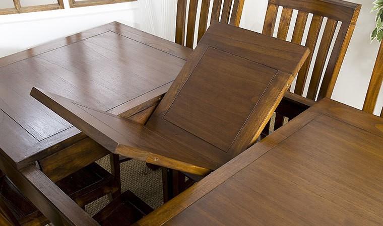 table en mindi massif avec rallonge 160 200 cm milo