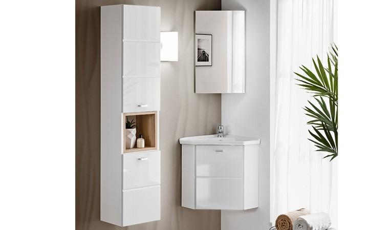 ensemble de salle de bain d angle blanc kara