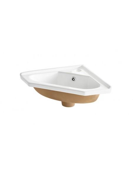meuble avec vasque d angle gris kara
