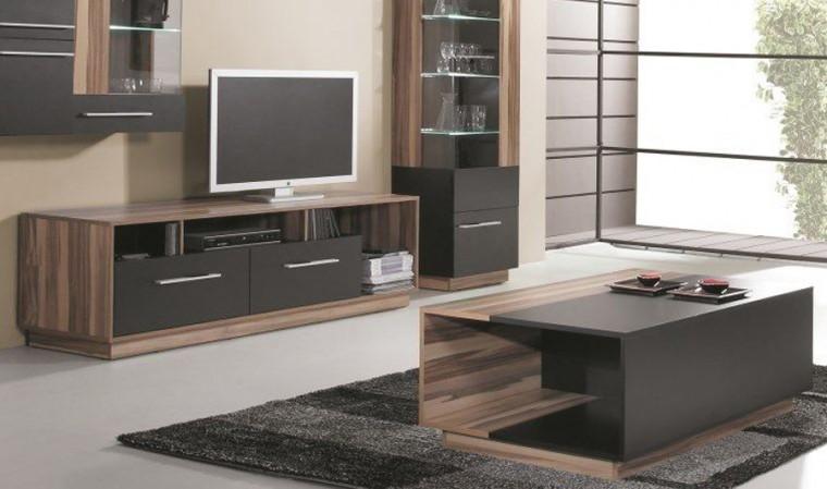 combinaison meuble table basse et meuble tv black
