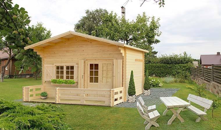 abri de jardin en bois terrasse et mezzanine 17m2 laurier 17