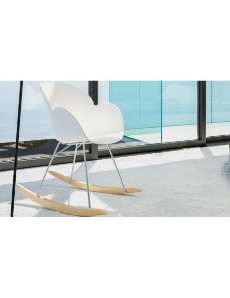 fauteuil a bascule en plastique blanc tiziano