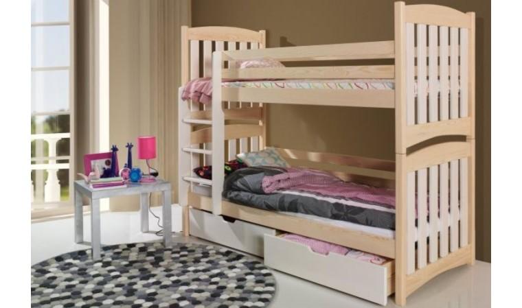 lit enfant superpose separable en bois massif