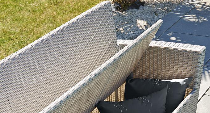 salon de jardin 5 personnes en resine tressee grise portovecchio