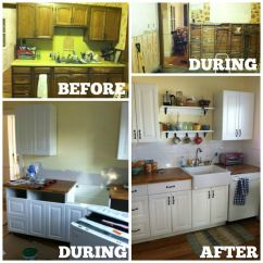 Kitchen Cabinet Cost Backsplash Murals Diy Cabinets Ikea Vs Home Depot House And Hammer Before After