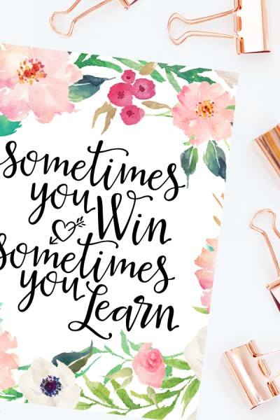 LEARNING VS PERFECTION