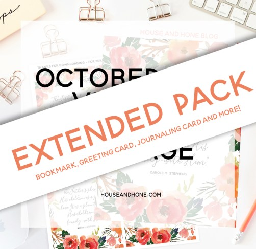 Visiting Teaching Handout Extended Pack| October 2016 | House and Hone Blog