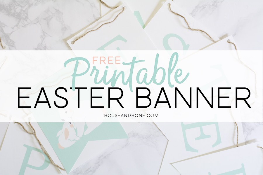photograph relating to Easter Banner Printable identified as Printable Easter Banner