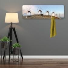 Μύλοι, Μύκονος Πόλεις -Ταξίδια Κρεμάστρες & Καλόγεροι 45 cm x 1.38cm