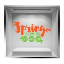 Spring is coming Άνοιξη - Καλοκαίρι Αυτοκόλλητα βιτρίνας 43 x 75 cm