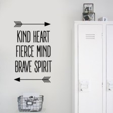 Kind Heart Φράσεις Αυτοκόλλητα τοίχου 81 x 48 cm