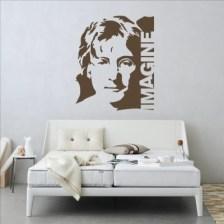 Τζων Λένον Imagine Φιγούρες Αυτοκόλλητα τοίχου 62 x 50 cm