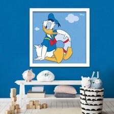 Ο Ντόναλντ με σωσίβιο! Disney Πίνακες σε καμβά 50 x 50 cm
