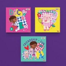 Φιλία ίσον διασκέδαση! Disney Mini Set καμβάς 25 x 25 cm