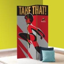 Take That, The Incredibles! Disney Παραβάν 80x180 cm [Δίφυλλο]
