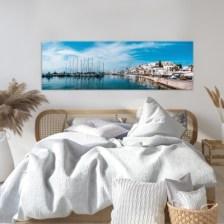 Λιμάνι της Νάξου Ελλάδα Πίνακες σε καμβά 42 x 130 cm