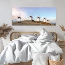 Μύλοι, Μύκονος Ελλάδα Πίνακες σε καμβά 42 x 100 cm