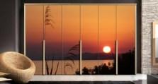 Ηλιοβασίλεμα στη Σιθωνία της Χαλκιδικής Ελλάδα Αυτοκόλλητα ντουλάπας 65 x 185 cm