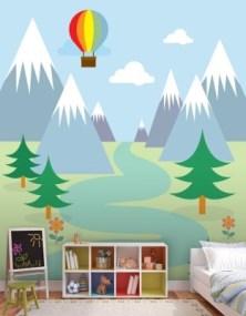 Ορεινό τοπίο σε βουνό Παιδικά Ταπετσαρίες Τοίχου 121 x 85 cm