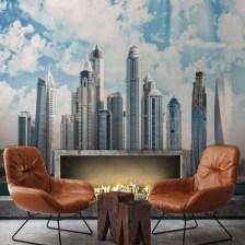 Μαρίνα του Ντουμπάι Πόλεις - Ταξίδια Ταπετσαρίες Τοίχου 89 x 112 cm