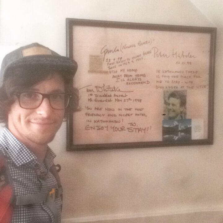 Peter Habeler im Hotel Utse