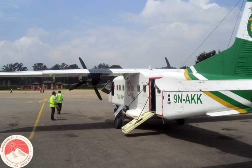 Flugzeug der Tara Air nach Lukla