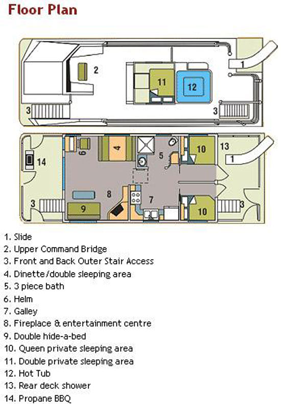 44foot Mirage Houseboat