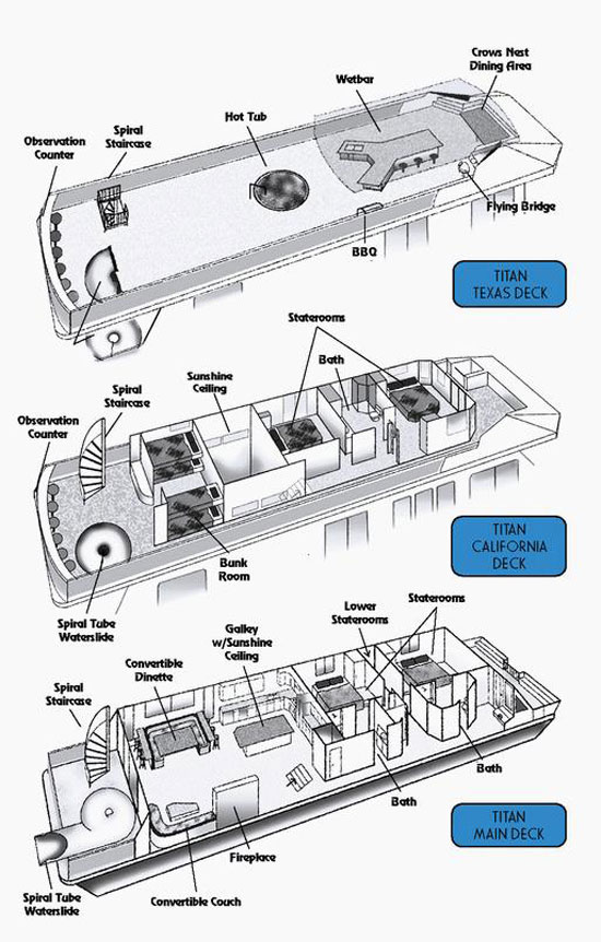 65foot Titan Houseboat
