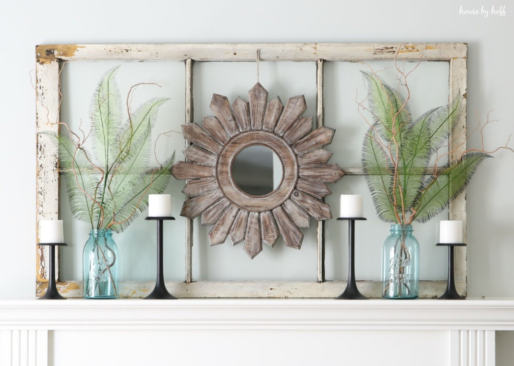 Ideas for Decorating with Old Windows: Old Window Frame