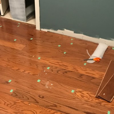 Painting Bookcases and Installing Floors (finally)   Spring One Room Challenge   Week Five